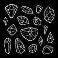 Line crystals on black background