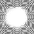 Line elements circle halftone background