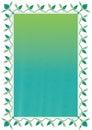Line Flower Green Frame_eps Royalty Free Stock Photo
