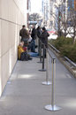 Line Forming Outside of Apple Store for iPad2 Rele Royalty Free Stock Photo