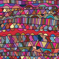 Line horizontal drawing colorful seamless pattern