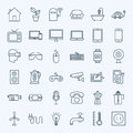 Line Household Appliance Icons