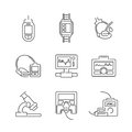 Line Icons Medical Device Icon Set