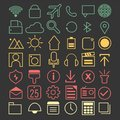 Line Icons Royalty Free Stock Photo