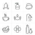 Line Icons Style Spa Icons Set