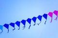 Line Of Kites In The Sky