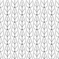Line Leaves Pattern. Endless Background. Seamless pattern