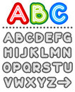 Line letters alphabet set Royalty Free Stock Photos