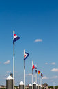 Line of Nautical Flags Under Blue Sky Royalty Free Stock Photo