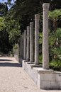 A line of old pillars Royalty Free Stock Photo