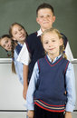 Line of pupils Royalty Free Stock Image
