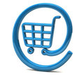 On-line shopping icon 3d Stock Photo