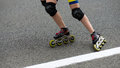 In line skating action active Royalty Free Stock Photo