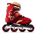 In-line skating modern boot Royalty Free Stock Photos
