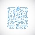 Line Style Science Vector Illu...