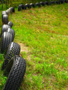Line of tires Royalty Free Stock Photo