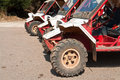 Line up of offroad ATV Stock Photo