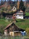 Swiss farm houses Royalty Free Stock Photo