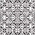Linear art deco black and white pattern Royalty Free Stock Image