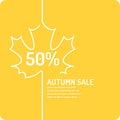 Linear Autumn sale banner