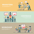 Linear Flat Business man Workshop Conference