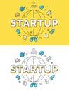 Linear Flat Business success STARTUP globe website