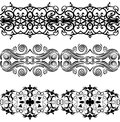 Linear floral ornament eps graphics Stock Image
