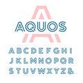 Linear font. Vector alphabet.