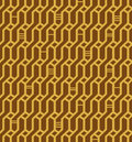Linear seamless geometric pattern. Decorative network background. Wickerwork Royalty Free Stock Images