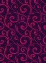 Linear seamless pattern. Stylish decor with elegant lines and curls. Decorative ornamental lattice. Abstract seamless geometric pa