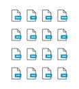 Linear vector file format icons set isolated on white for web and application Royalty Free Stock Photo