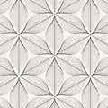 Linear vector pattern, repeating abstract leaves, gray line of leaf or flower, floral. graphic clean design for fabric, event Royalty Free Stock Photo