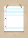 Lined paper on grunge background Royalty Free Stock Photo