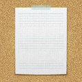 Lined paper sheet for your sample text Stock Photo