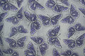 Linen canvas texture white with butterfly pattern Royalty Free Stock Photos