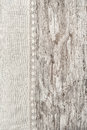 Linen fabric with lace on the old wooden background Royalty Free Stock Photo