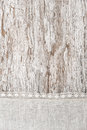 Linen fabric with lace on the old wooden background rustic Stock Image
