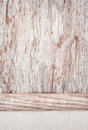 Linen fabric on the old wooden background with plank rustic Stock Photo