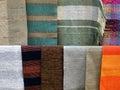 Linen fabrics selection of traditional latvian Royalty Free Stock Photo