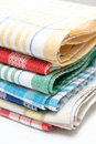 Linen kitchen towels Stock Photos
