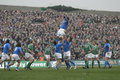 Lineout,Ireland V Italy,6 Nations Rugby Royalty Free Stock Photos