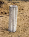 Liner of dehydrated clay for waterproofing in water wells Royalty Free Stock Photography