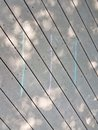 Lines Of Chalk On A Wood Deck