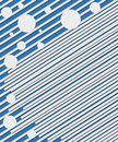 Lines and Circles on Blue Royalty Free Stock Photo