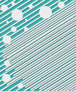 Lines and Circles on Teal Royalty Free Stock Photo