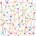 Lines and dots network Royalty Free Stock Photo