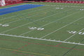 Lines on the Football Field Royalty Free Stock Photo