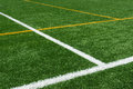 Lines on football turf background of Stock Images