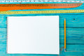 Lines and a white sheet of paper for notes Royalty Free Stock Photo