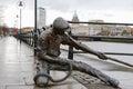 The Linesman statue. Dublin, Ireland Royalty Free Stock Photo